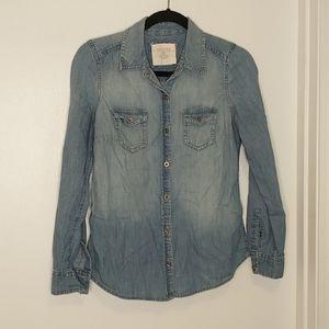 3/$15 sonoma denim button up shirt